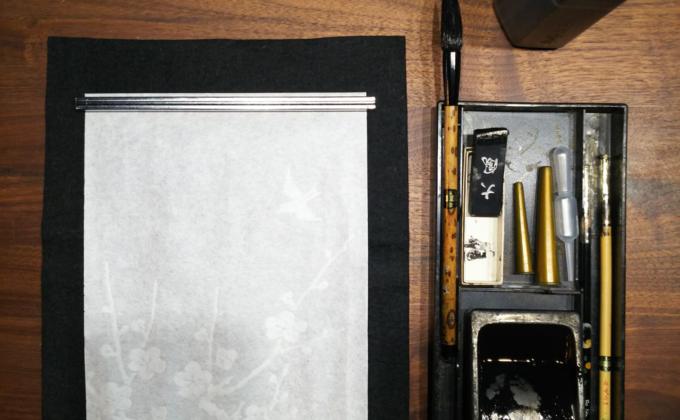筆を持つのは何年ぶりでしょうか?『新春 書き初めの儀』おこないました